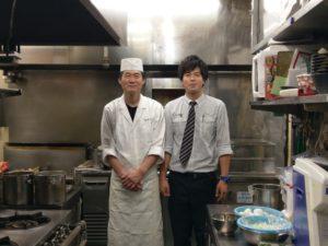 福島県郡山市の会津蕎麦と日本料理のお店「湖穂里」の料理長と弊社社員