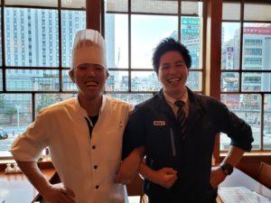 郡山市の美味餐庁の料理長と弊社社員